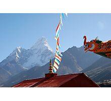 Thyanboche Monastery Ama Dablam Photographic Print