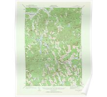 Maine USGS Historical Map Bryant Pond 306493 1911 62500 Poster