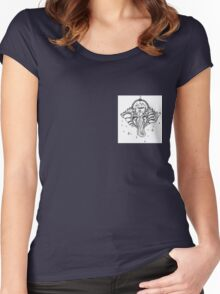 Yoga Elephant Women's Fitted Scoop T-Shirt