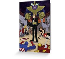 Agent Coulson with the Infinity Gauntlet Greeting Card