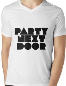 PARTYNEXTDOOR Black Mens V-Neck T-Shirt