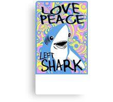 Left Shark Happy Hippie Superbowl Canvas Print