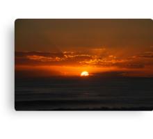 Exploding Sunset Canvas Print