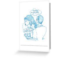 OBAMA PALIN MIND MELD Greeting Card