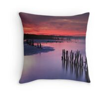 Lake Albert Sunset Throw Pillow
