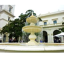 *Fountain - Outside Entertainment Area - Government House Vic.* Photographic Print