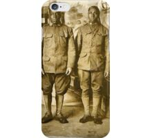 Black American World War I Infantry Soldiers iPhone Case/Skin