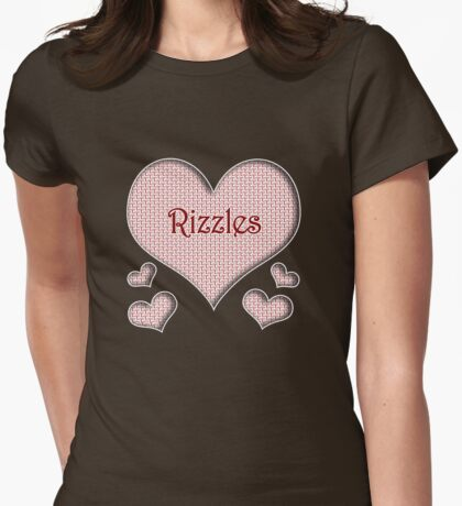 Rizzles Happy Valentines Day Womens Fitted T-Shirt