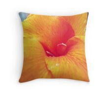 Yellow/Red Canna in bloom Throw Pillow