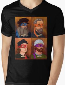 The Renaissance Ninja Artists Mens V-Neck T-Shirt