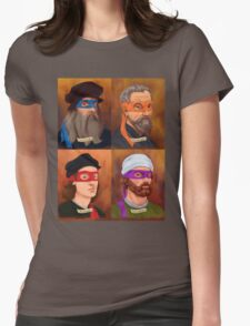 The Renaissance Ninja Artists Womens Fitted T-Shirt
