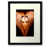 Love withstands all. Framed Print