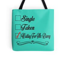 PRIDE AND PREJUDICE JANE AUSTEN TAKEN WAITING FOR MR. DARCY Tote Bag