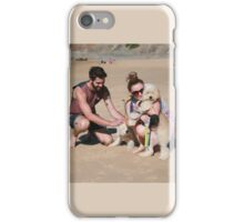 4 Elly with her Poodle-Japanese Spitz & Bichon-Beagle iPhone Case/Skin