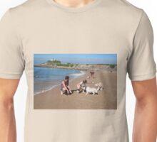 4 Elly with her Poodle-Japanese Spitz & Bichon-Beagle Unisex T-Shirt