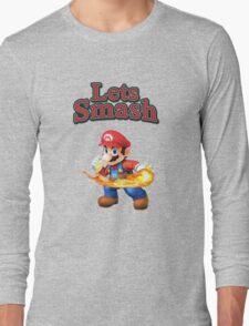 Mario Smash Bros Long Sleeve T-Shirt