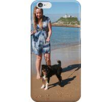 2 Ellie with her Australian Shepherd iPhone Case/Skin