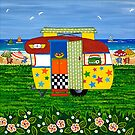 Caravan Holiday ~ Ricky-Lee by Lisa Frances Judd~QuirkyHappyArt