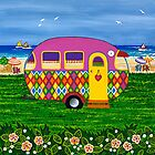 Caravan Holiday ~ Mary-Sue by Lisa Frances Judd~QuirkyHappyArt