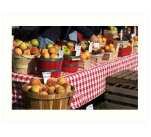 Get your fresh produce here! Art Print