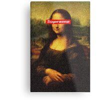 Supreme Mona Lisa Metal Print