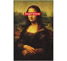Supreme Mona Lisa Photographic Print
