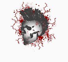 Mohawk Punked Skull Mens V-Neck T-Shirt