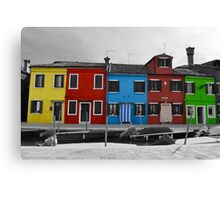 Burano coloured houses Canvas Print