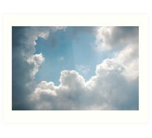Clouds rays Art Print