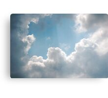 Clouds rays Canvas Print