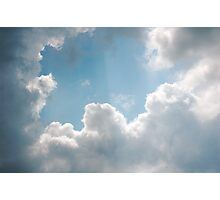 Clouds rays Photographic Print