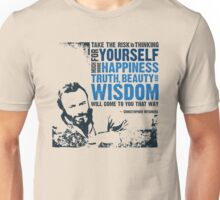 Christopher Hitchens: Think For Yourself Unisex T-Shirt