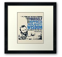 Christopher Hitchens: Think For Yourself Framed Print