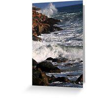 Ocean vs Rocks Greeting Card