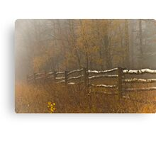 Country Fence Misty Style Canvas Print
