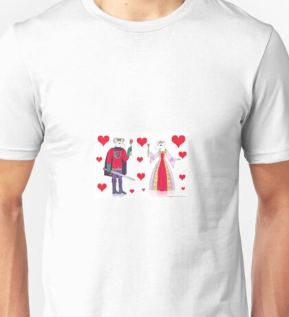 Sheep King and Queen of Hearts Unisex T-Shirt