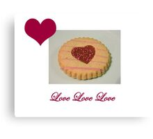 Love Biscuit Canvas Print