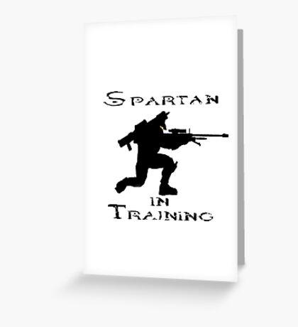 Spartan In Training Greeting Card