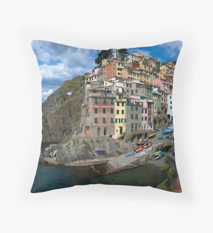 Cinque Terres - Riomaggiore Throw Pillow