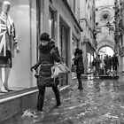 Walking through the flooded streets of Venice (2015) by Andy Parker