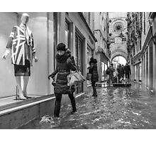 Walking through the flooded streets of Venice (2015) Photographic Print