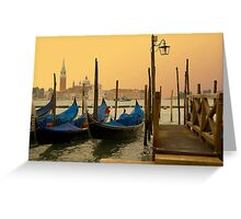 Sunset in Venice Italy Greeting Card