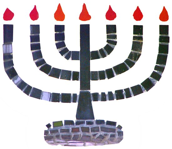 Temple Menorah by Christine Till  @    CT-Graphics