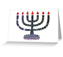 Temple Menorah Greeting Card