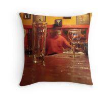 At the Bar Throw Pillow