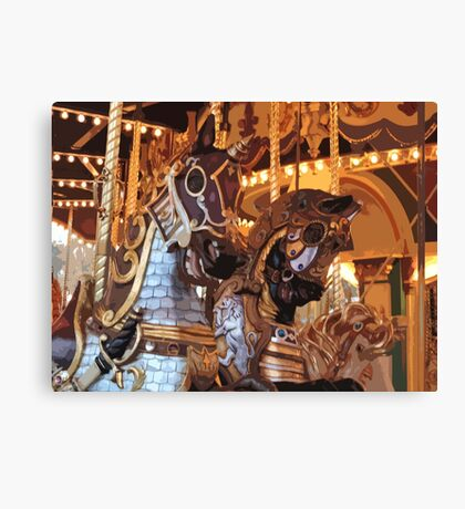 The Golden Age of The Carousel Canvas Print