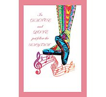 LOVE RHYTHM Photographic Print