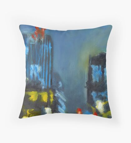Untitled in Blue Throw Pillow