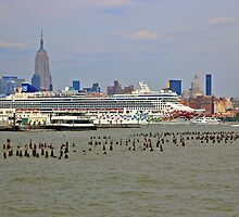 The Cruise Ship Norwegian Gem On The Hudson River by pmarella