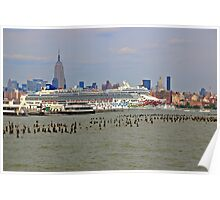 The Cruise Ship Norwegian Gem On The Hudson River Poster